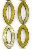35x17mm Olive Open Navette Shell Beads