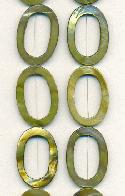 30x20mm Olive Open Oval Shell Beads