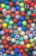 1 Ounce Mix Colors 6mm Glass Beads