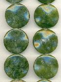 30mm Nephrite Coin Wave Beads