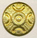 51mm Dapped Round Brass Stampings