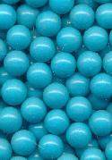 6mm Turquoise Plastic No Hole Beads