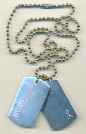 30'' Silver Plated Ball Chain/Dog Tag