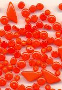Mixed Lot Orange Czech Beads