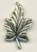 42x26mm Silver Metalized Leaf Bead