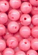 8mm Pink Acrylic Beads