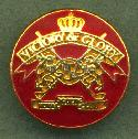 20mm Red/Gold ''Victory & Glory'' Buttons