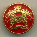 15mm Red/Gold ''Victory & Glory'' Buttons