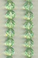6mm Faceted Peridot Acrylic Beads