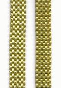 8mm Flat Brass Brick Mesh Chain