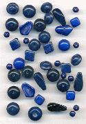 Mixed Lot Blue Glass Beads