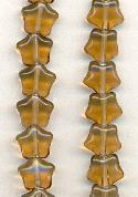 8x7mm Smoked Topaz Star Beads