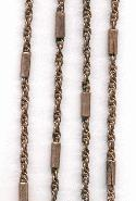4mm Copper Ox Chain W/Bar links