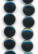 14mm Black MOP Coin Beads