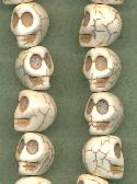 12x10mm White Magnesite Skull Beads
