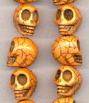 18x14mm Tan Magnesite Skull Beads