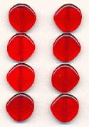 14mm Transparent Siam Ruby Glass Beads