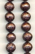 12mm Bronze Textured Glass Beads