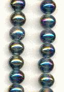 9mm Vitrail Glass Beads