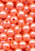 6mm Peach Acrylic Pearl Beads