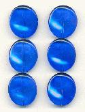 20x17mm Transparent Blue Glass Beads