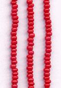 08/0 Opaque Red Seed Beads