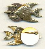 60x29mm Fish Brooches