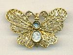 45x29mm AG Unfinished Butterfly Brooch