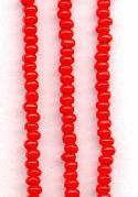 08/0 Bright Red Seed Beads