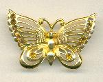 45x30mm GP Rhinestone Butterfly Brooch