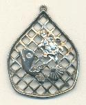 51x41mm Cast Metal Sea Life Pendant