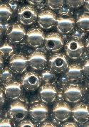 6mm Silver Metalized Plastic Beads