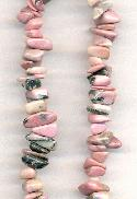 Mixed Pink Black Stone Nugget Beads