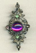 41x21mm GM Amethyst Cab Brooch