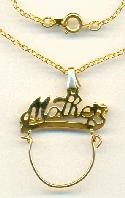18'' GP Mother Charm Necklace/Brooch