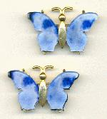 45x30mm GP Blue Wing Butterfly Brooch