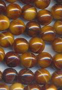 7mm Opaque Brown No-Hole Beads