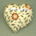 42mm Floral Pattern Acrylic Heart