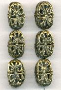 21x12mm Antique Brass Filigree Beads