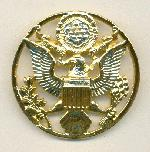44mm Gold Plate US Coat of Arms Brooch