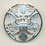 44mm Silver Plate US Coat of Arms Brooch