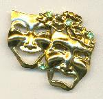 45x53mm GP Tragedy/Comedy RS Brooch 1