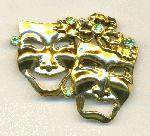 45x53mm GP Tragedy/Comedy RS Brooch 2