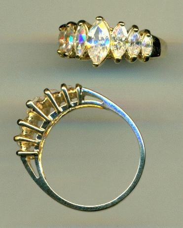 size 7 14k gold plated ring w rs jan 39 s jewelry supplies. Black Bedroom Furniture Sets. Home Design Ideas