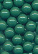 7mm Green Plastic No Hole Beads