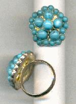 Size 8 SP Turquoise Rings