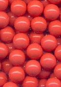 7mm Coral Plastic No Hole Beads