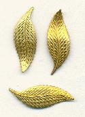 28x10mm Stamped Brass Leaves