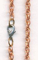 37'' Copper Coated Steel Chain Necklace