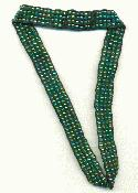 Green AB Beaded Elastic Headband